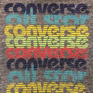 Converse Shirts - Converse All Star Tee Shirt Rainbow Spellout Logo